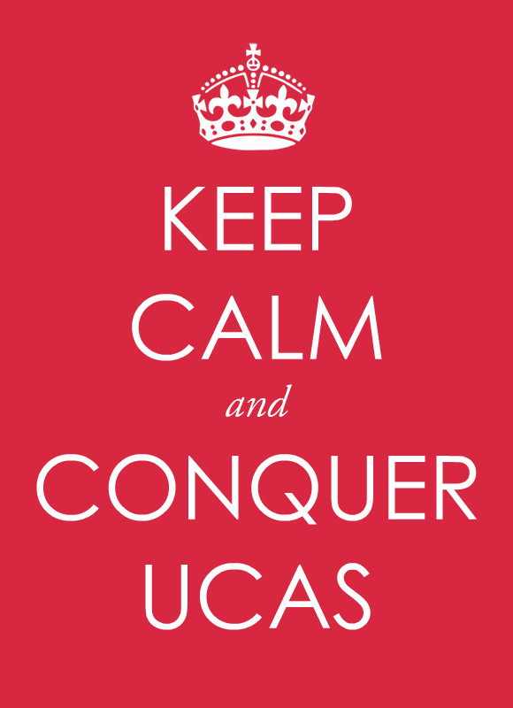 Red image stating Keep Calm and Conquer UCAS