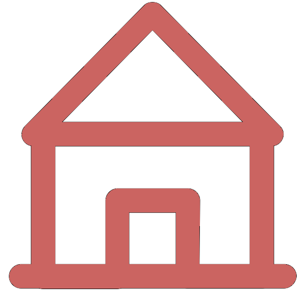 Pink icon of a house