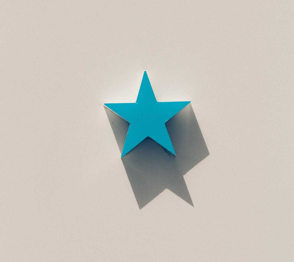 Blue star on a white background